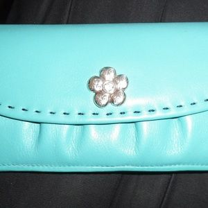 Brighton Turquoise Wallet Clutch NWOT